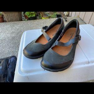 Merrell Shoes - Merrell Black Mary Jane Slip On Sandals Size 8.5